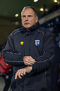 Gillingham FC manager Steve Lovell during the EFL Sky Bet League 1 match between Gillingham and Bristol Rovers at the MEMS Priestfield Stadium, Gillingham, England on 12 March 2019.