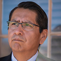 Presidential candidate Jonathan Nez after his hearing, Wednesday, Sept. 26, 2018 in Window Rock at the Office of Hearing and Appeals (OHA) investigating a complaint filed by Vincent Yazzie. OHA ruled in favor of Nez.