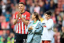 Southampton's Jan Bednarek and family during the lap of appreciation