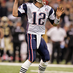 2009 November 30: New England Patriots quarterback Tom Brady (12) throws the ball during a 38-17 win by the New Orleans Saints over the New England Patriots at the Louisiana Superdome in New Orleans, Louisiana.