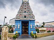 29 DECEMBER 2014 - SINGAPORE, SINGAPORE:   The main entrance to the Sri Srinivasa Perumal Temple on Senrangoon Road in Singapore.  PHOTO BY JACK KURTZ