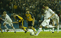 Photo: Aidan Ellis.<br /> Leeds United v Wigan Athletic. The FA Cup. 17/01/2006.<br /> Leeds  David Healy scores the second from the spot