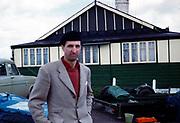 British Sports car racing driver Bill de Selincourt, R William de Selincourt, 1921-2014 portrait at Brands Hatch 1961