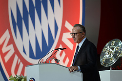 27.11.2015, Audi Dome, Muenchen, GER, FC Bayern Muenchen, Jahreshauptversammlung 2015, im Bild vl. Karl-Heinz Rummenigge ( FC Bayern Muenchen ) // during the 2015 Annual General Meeting of german football club FC Bayern Munich at the Audi Dome in Muenchen, Germany on 2015/11/27. EXPA Pictures © 2015, PhotoCredit: EXPA/ Eibner-Pressefoto/ Vallejos<br /> <br /> *****ATTENTION - OUT of GER*****