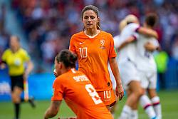 07-07-2019 FRA: Final USA - Netherlands, Lyon<br /> FIFA Women's World Cup France final match between United States of America and Netherlands at Parc Olympique Lyonnais. USA won 2-0 / Daniëlle van de Donk #10 of the Netherlands