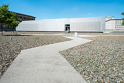 Exterior view of Topography  of Terror visitors centre at site of former Gestapo headquarters in Berlin Germany
