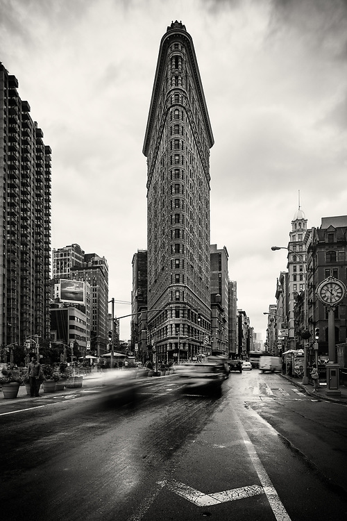 An 0.6 second exposure of the Flatiron Building, New York City