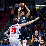 Anadolu Efes's Cenk Akyol (C) during their Euroleague Top 16 basketball match Anadolu Efes between CSKA Moscow at the Abdi Ipekci Arena in Istanbul at Turkey on Thursday, March, 01, 2012. Photo by TURKPIX