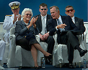 President George H.W. & Barbara Bush at an event in Newport News, Va.  Photo by Johnny Bivera