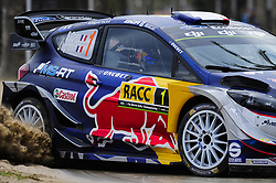October 7, 2017 - Salou, Spain - The French driver, Sbastien Ogier and his co-driver Julien Ingrassia of M-Sport Rally Team, driving his Ford Fiesta WRC at Salou special stage during the second day of the Rally Racc Catalunya Costa Daurada, on October 7, 2017 in Salou, Spain. (Credit Image: © Joan Cros/NurPhoto via ZUMA Press)