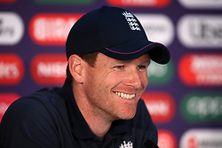 England captain Eoin Morgan during a press conference at Lord's, London.