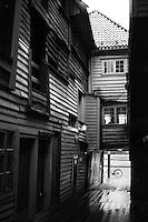Gamle hus ved Bryggen i Bergen.<br /> Foto: Svein Ove Ekornesvåg