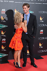 """03.12.2015, Callao Cinema, Madrid, ESP, Premiere, In the Heart of the Sea, im Bild Australian actor Chris Hemsworth and Spanish actress Elsa Pataky // during the Madrid Premiere of the movie """" In the Heart of the Sea"""" at the Callao Cinema in Madrid, Spain on 2015/12/03. EXPA Pictures © 2015, PhotoCredit: EXPA/ Alterphotos/ Victor Blanco<br /> <br /> *****ATTENTION - OUT of ESP, SUI*****"""