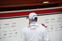 February 18, 2019 - Barcelona, Spain - Kimi Raikkonen of Alfa Romeo Racing present a new Formula One car before winter test in Barcelona, on February 18, 2019. (Credit Image: © Andrea Diodato/NurPhoto via ZUMA Press)