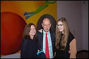 ALLEN JONES; THEA JONES; GRACE SHEPHERD, ( HIS DAUGHTER AND GRANDAUGHTER ) , Allen Jones private view. Royal Academy,  London. 11 November  2014.