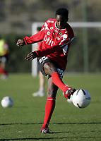 Fotball / Football<br /> La Manga - Spain<br /> 05.03.2007<br /> Trening Bryne<br /> Foto: Morten Olsen, Digitalsport<br /> <br /> Mammadou Diallo<br /> Fransk spiller på prøve