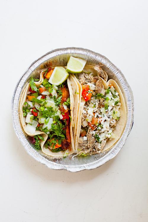 Al Pastor & Chicken Tacos from Taqueria Maria & Ricardo ($7.95) - WFH: Sore Throat