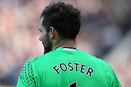 Ben Foster, the West Bromwich Albion goalkeeper looks on. Premier league match, West Bromwich Albion v Tottenham Hotspur at the Hawthorns stadium in West Bromwich, Midlands on Saturday 15th October 2016. pic by Andrew Orchard, Andrew Orchard sports photography.