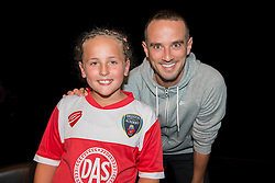 England Womens manager, Mark Sampson poses for a photo with a fan  - Mandatory byline: Dougie Allward/JMP - 07966386802 - 05/09/2015 - FOOTBALL - SGS Wise Campus -Bristol,England - Bristol Academy Womens v Birmingham City Ladies - FA Womens Super League