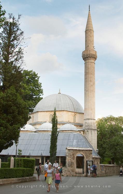 Karadozbegova Karadjosbey Karadjos Bey Mosque on the Brace Fejica street. Historic town of Mostar. Federation Bosne i Hercegovine. Bosnia Herzegovina, Europe.
