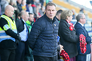 Mansfield Town Manager David Flitcroft during the The FA Cup match between Mansfield Town and Charlton Athletic at the One Call Stadium, Mansfield, England on 11 November 2018.
