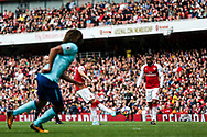 Mesut Ozil of Arsenal © in action. Premier league match, Arsenal v AFC Bournemouth at the Emirates Stadium in London on Saturday 9th September 2017. pic by Kieran Clarke, Andrew Orchard sports photography.