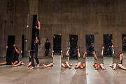 Mirror Piece II, an early work in which a group of performers make choreographed movements while holding tall; narrow mirrors - Joan Jonas, Tate Modern opens largest survey of pioneering performance artist's work from her five decade career. It includes an immersive gallery exhibition and live performance programme.