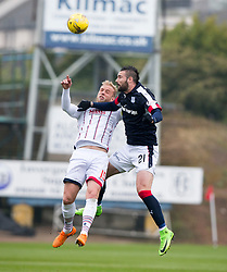Ross County's Andrew Davies and Dundee's Marcus Haber. half time : Dundee 0 v 1 Ross County, SPFL Ladbrokes Premiership played 13/5/2017 at Dens Park.