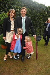 DARCEY BUSSELL and her husband ANGUS FORBES with their children, left PHOEBE and right ZOE at the Cartier Style Et Luxe at the Goodwood Festival of Speed, Goodwood House, West Sussex on 24th June 2007.<br /><br />NON EXCLUSIVE - WORLD RIGHTS