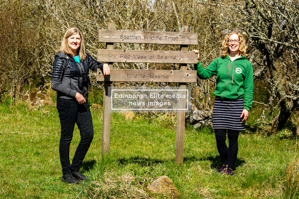 """Pictured: <br />Scottish Greens co-leader Lorna Slater joined Lothian candidate Alison Johnstone on a visit to Scottish Wildlife Trust's Red Moss of Balerno nature reserve to discuss the party's plans to tackle climate and nature emergencies by resoring the natural environment.  <br /><br />Commenting ahead of the visit  Lorna Slater said: """"With one in nine species at risk, Scotland is in a Nature Emergency. Yet birds of prey continue to disappear and the Scottish government hands licences to kill birds and beavers out like candy. It's time we took protection of our wildlife seriously, before it's too late.<br /> <br /> """"The Scottish Greens will reform wildlife law, so that when a species or important habitat is designated as protected, they really are protected, we will ensure tackling wildlife crime is prioritised and resourced, and we will invest £895m in restoring the natural environment and creating rural green jobs across the country.""""<br /> <br /> """"Scottish Greens are proud of the protections we have won for beavers and mountain hares, but these need to be enforced, and those who commit wildlife crimes need to be brought to justice. That requires a government that can stand up to vested interests and protect Scotland's wildlife. Their future depends on it, so vote Green on Thursday.""""<br /> Ger Harley   EEm 2 May 2021"""