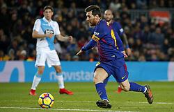 December 17, 2017 - Barcelona, Catalonia, Spain - Leo Messi during the La Liga match between FC Barcelona v Real Club Deportivo de La Coruna, in Barcelona, on December 17, 2017. (Credit Image: © Joan Valls/NurPhoto via ZUMA Press)