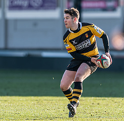 Newports' Matt O'Brien in action during todays match.<br /> <br /> Photographer Simon Latham/Replay Images<br /> <br /> Principality Premiership - Newport v Ebbw Vale - Sunday 4th February 2018 - Rodney Parade - Newport<br /> <br /> World Copyright © Replay Images . All rights reserved. info@replayimages.co.uk - http://replayimages.co.uk