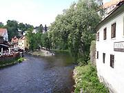Krumlov castle moat