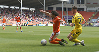 Blackpool's Nya Kirby is fouled by Fleetwood Town's James Husband to win a penalty resulting in his teams first goal<br /> <br /> Photographer Stephen White/CameraSport<br /> <br /> The EFL Sky Bet League One - Blackpool v Fleetwood Town - Monday 22nd April 2019 - Bloomfield Road - Blackpool<br /> <br /> World Copyright © 2019 CameraSport. All rights reserved. 43 Linden Ave. Countesthorpe. Leicester. England. LE8 5PG - Tel: +44 (0) 116 277 4147 - admin@camerasport.com - www.camerasport.com<br /> <br /> Photographer Stephen White/CameraSport<br /> <br /> The EFL Sky Bet Championship - Preston North End v Ipswich Town - Friday 19th April 2019 - Deepdale Stadium - Preston<br /> <br /> World Copyright © 2019 CameraSport. All rights reserved. 43 Linden Ave. Countesthorpe. Leicester. England. LE8 5PG - Tel: +44 (0) 116 277 4147 - admin@camerasport.com - www.camerasport.com