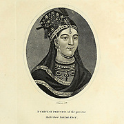 A Chinese Princess of the Manchoo Tartar Race Copperplate engraving From the Encyclopaedia Londinensis or, Universal dictionary of arts, sciences, and literature; Volume IV;  Edited by Wilkes, John. Published in London in 1810
