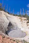Mud volcano in the Hayden Valley of Yellowstone National Park
