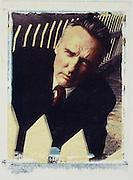 Actor Dennis Hopper. (Polaroid transfer print)