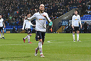Bolton Wanderers Defender, Tom Thorpe (32) misses  during the The FA Cup 3rd round match between Bolton Wanderers and Crystal Palace at the Macron Stadium, Bolton, England on 7 January 2017. Photo by Mark Pollitt.