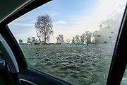 This is a view from my car's window as I had no choice but to sleep in the car due to the Coronavirus pandemic outbreak in Britain and the hotels were all shutdown in Coventry. I was parked in Crackley Woods on Wednesday, April 15, 2020. (Photo/Vudi Xhymshiti)