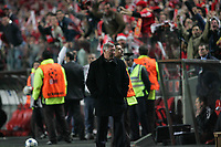 Photo: Lee Earle.<br /> Benfica v Manchester United. UEFA Champions League.<br /> 07/12/2005. United manager Sir Alex Ferguson looks dejected as Benfica go ahead after Beto's goal.