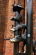 Town Musicians of Bremen bronze statue, Riga, Latvia