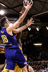 November 1, 2018 - Barcelona, Barcelona, Spain - Pierre Oriola, #18 of FC Barcelona Lassa in actions during EuroLeague match between FC Barcelona Lassa and Maccabi Fox Tel Aviv  on November 01, 2018 at Palau Blaugrana, in Barcelona, Spain. (Credit Image: © AFP7 via ZUMA Wire)