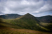 Catstye Cam summit and the surrounding valley, west of Helvellyn mountain, The Lake District, Cumbria, United Kingdom on the 2nd of August 2021. Catstye Cam is connected to Helvellyn by Swirral Edge, one of the famous walking routes in the Lake District. (photo by Andrew Aitchison / In pictures via Getty Images)