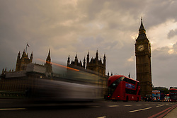 General view of sunset over the Houses of Parliament in Westminster, London. Picture date: Thursday May 11th, 2017. Photo credit should read: Matt Crossick/EMPICS Entertainment.