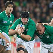 Stephen Ferris, Ireland, in action during the Ireland V Italy Pool C match during the IRB Rugby World Cup tournament. Otago Stadium, Dunedin, New Zealand, 2nd October 2011. Photo Tim Clayton...