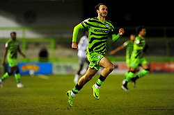 Aaron Collins of Forest Green Rovers - Mandatory by-line: Nizaam Jones/JMP - 27/02/2021 - FOOTBALL - The innocent New Lawn Stadium - Nailsworth, England - Forest Green Rovers v Colchester United - Sky Bet League Two