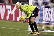 10 February 2006: Kevin Hartman, the United States' goalkeeper, makes a save. The United States Men's National Team defeated Japan 3-2 at SBC Park in San Francisco, California in an International Friendly soccer match.