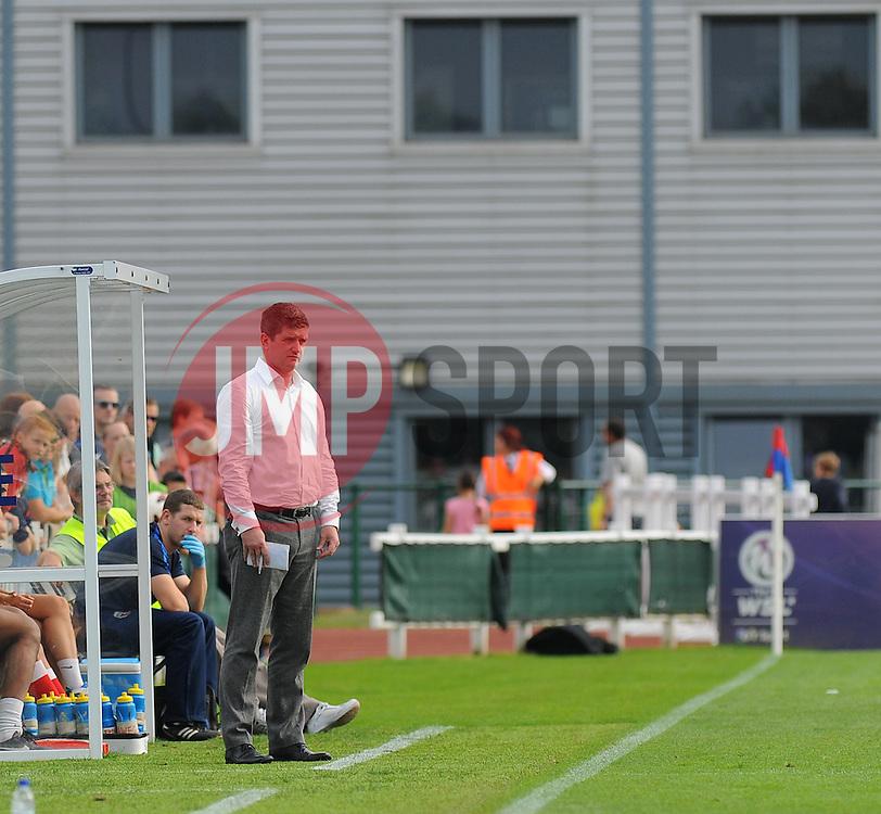 Bristol Academy Womens manager, Dave Edmondson watches on during the send half. - Photo mandatory by-line: Nizaam Jones- Mobile: 07583 387221 - 28/09/2014 - SPORT - Women's Football - Bristol - SGS Wise Campus - BAWFC v Man City Ladies - sport