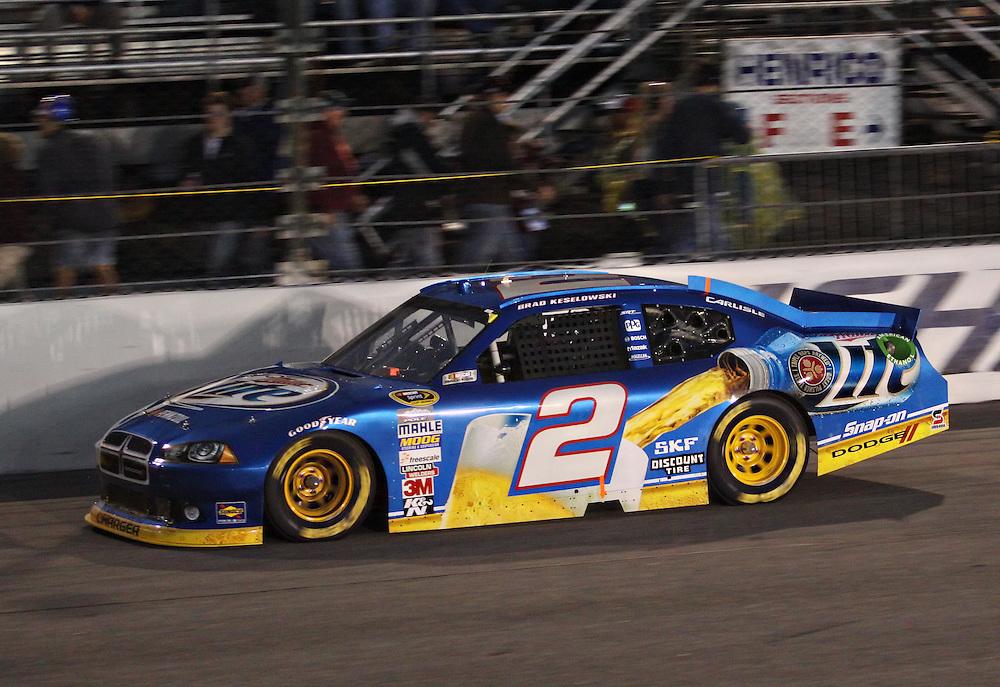 Apr 28, 2012; Richmond, VA, USA; NASCAR Sprint Cup driver Brad Keselowski (2) during the Capital City 400 at Richmond International Raceway. Mandatory Credit: Peter Casey-US PRESSWIRE.