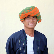 Portrait of a PaO ethnic minority man at the PaO National Day on 24th March 2016 in Kayah State, Myanmar